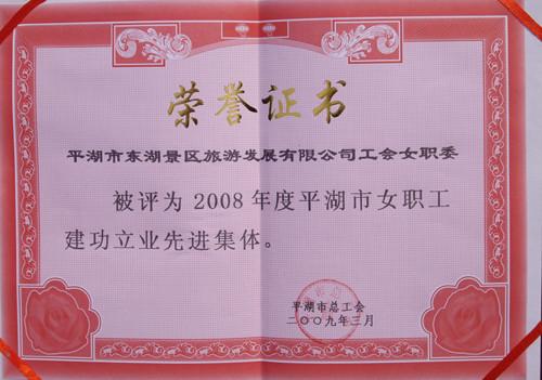 2008年度平湖市女职工建功立业先进集体